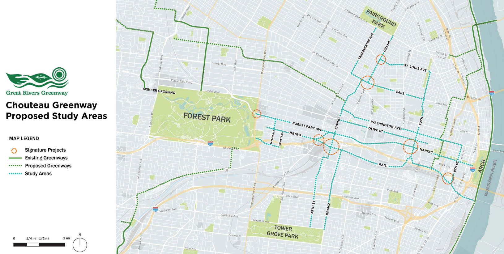 New Chouteau Greenway aims to promote equity, unite city neighborhoods