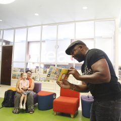 Children hip hop to music and stories at the library