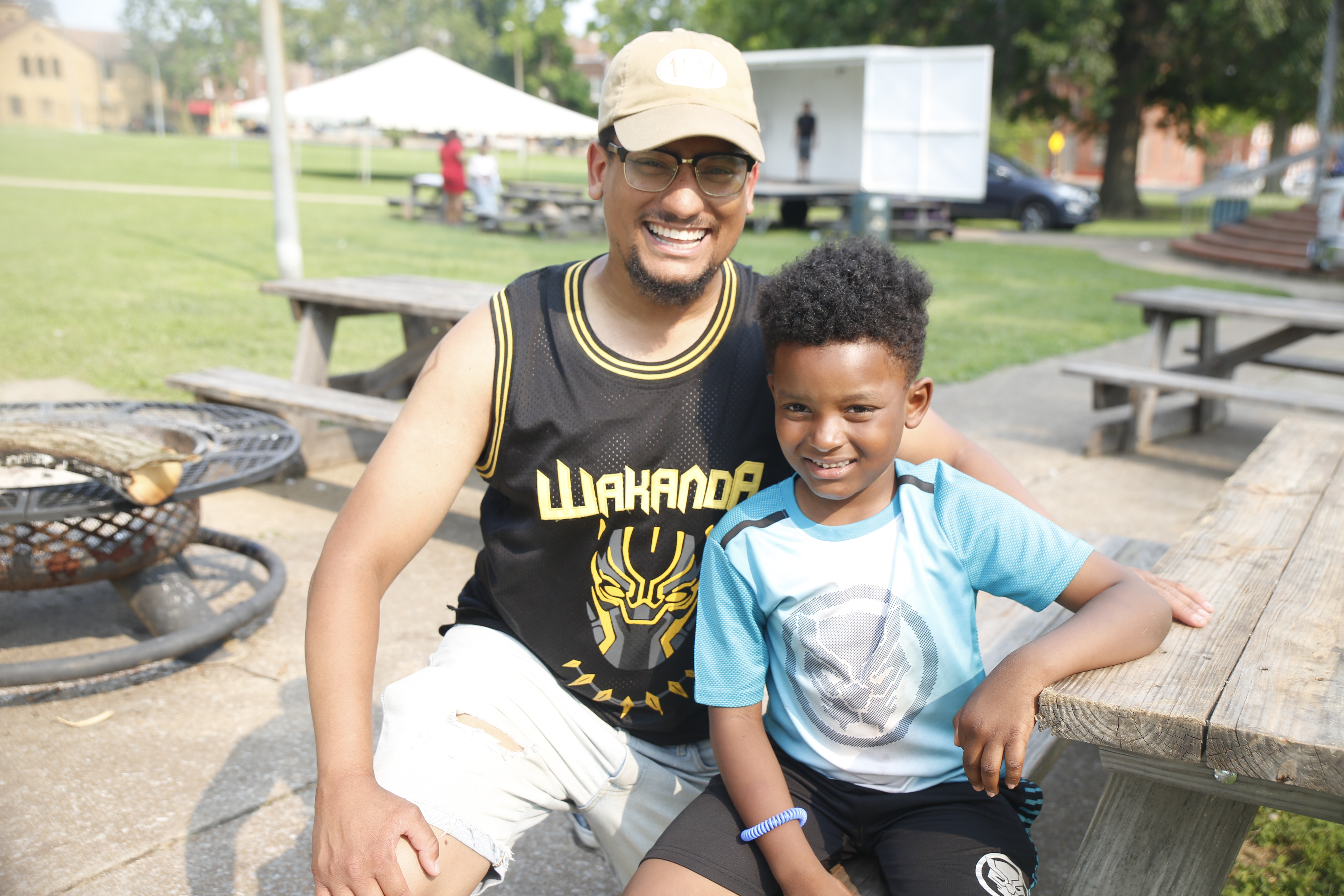'Camping' in the 'hood all good for dads and kids in Hyde Park