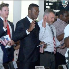 New citizens sworn in at the Old Courthouse