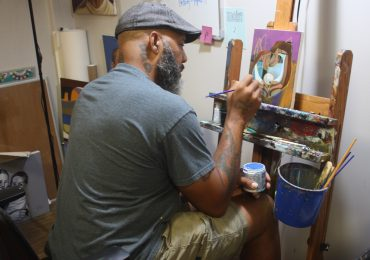 Artist Cbabi's positive black male images counter Ferguson biases