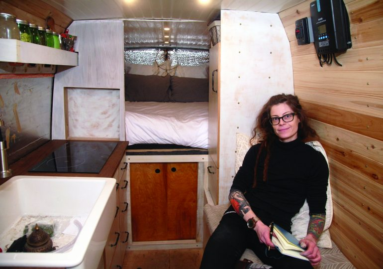 MADE helps woman turn van into rolling home
