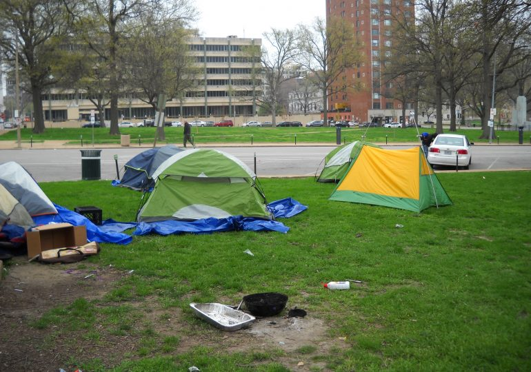 Group sues to block clearing of tent city downtown