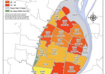 City releases map of coronavirus by ZIP code