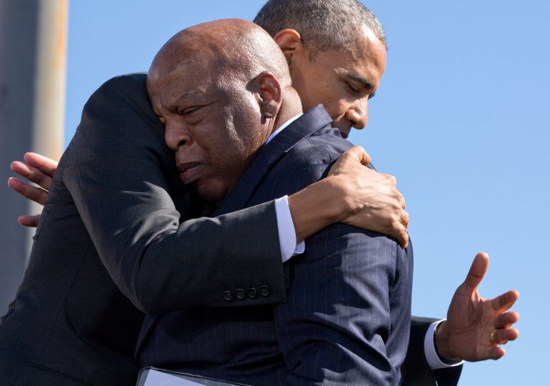 At Lewis' funeral, Obama calls for renewing Voting Rights Act