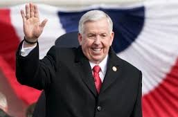Parson holds party-less inaugural, predicts 'sunny days'